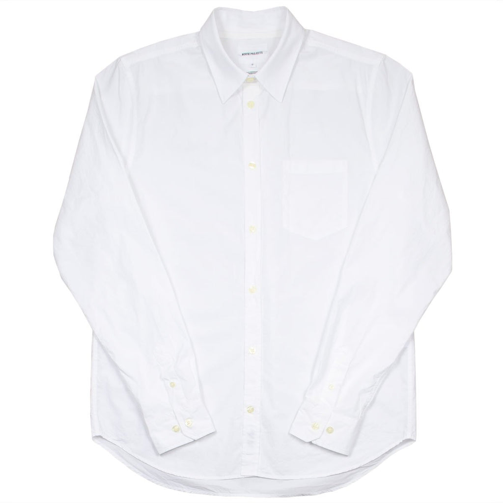 Norse Projects - Osvald Classic Poplin Shirt - White
