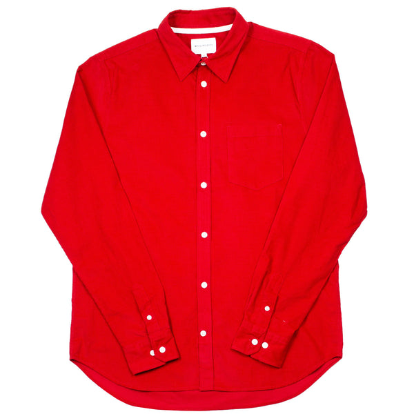 Norse Projects - Osvald Corduroy Shirt - Askja Red