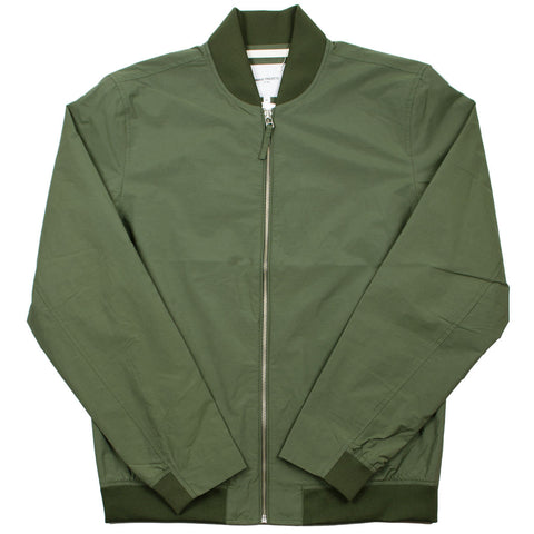 Norse Projects - Ryan Crisp Cotton Bomber Jacket - Dried Olive
