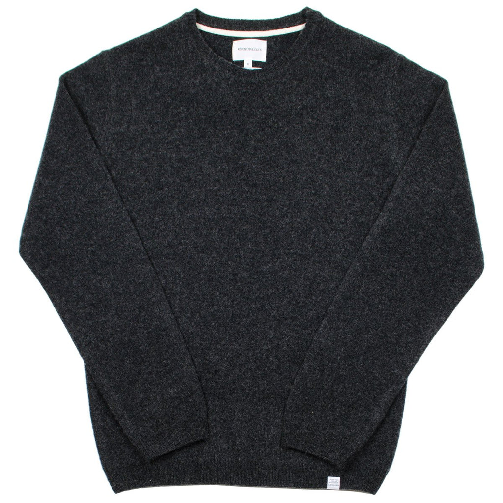 Norse Projects - Sigfred Lambswool Sweater - Charcoal