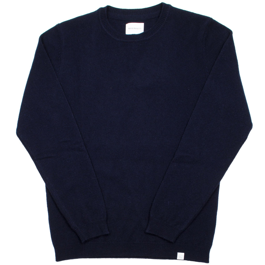 Norse Projects - Sigfred Lambswool Sweater - Dark Navy