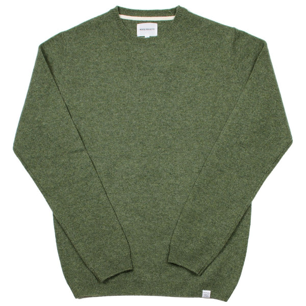 Norse Projects - Sigfred Lambswool Sweater - Dried Olive