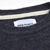 Norse Projects - Sigfred Lambswool Sweater - Grey Melange