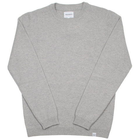 Norse Projects - Sigfred Lambswool Sweater - Light Grey Melange