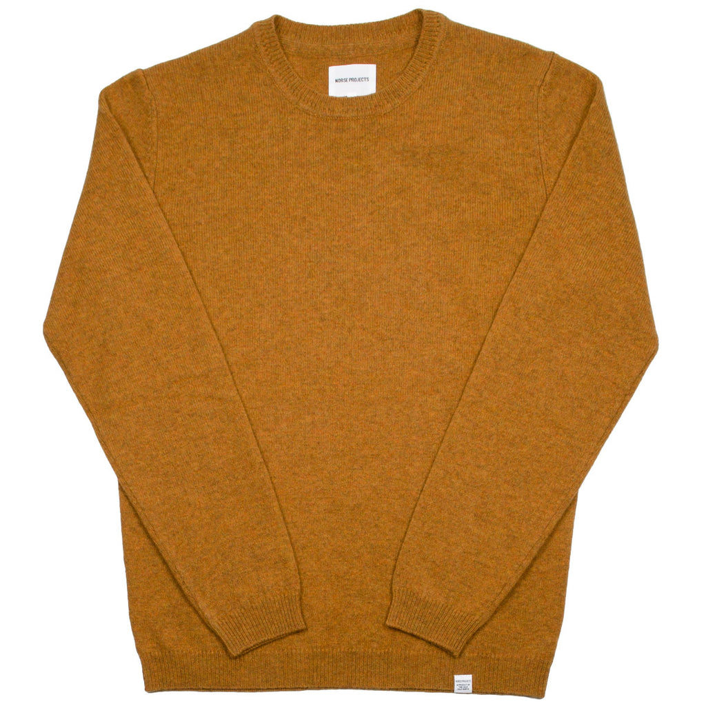 Norse Projects - Sigfred Lambswool Sweater - Montpellier Yellow