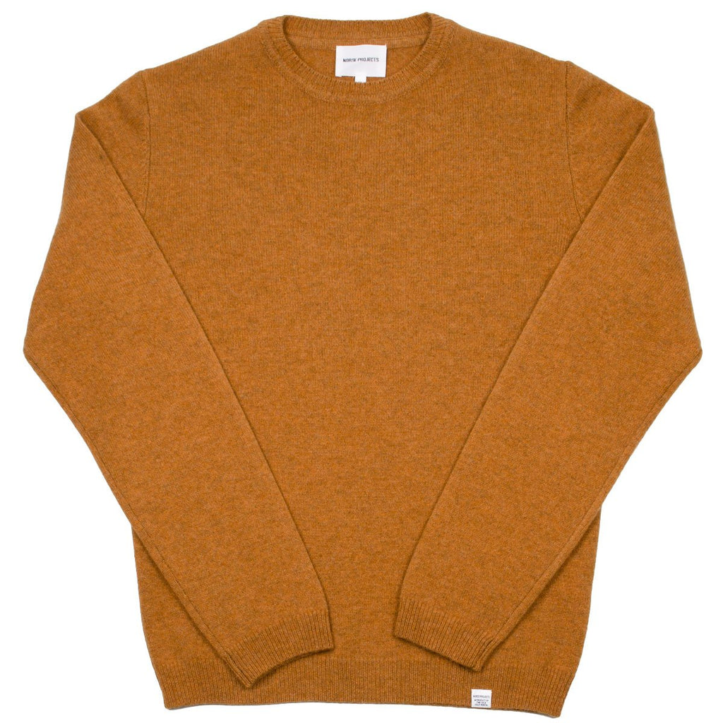 Norse Projects - Sigfred Lambswool Sweater - Mustard Yellow