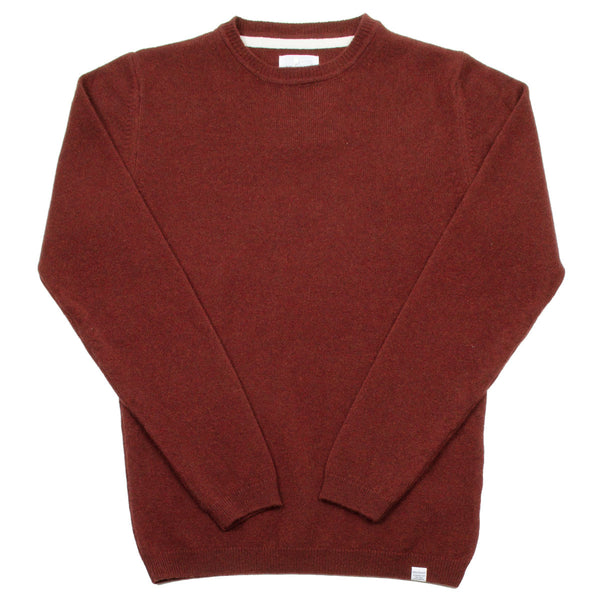 Norse Projects - Sigfred Lambswool Sweater - Red Clay