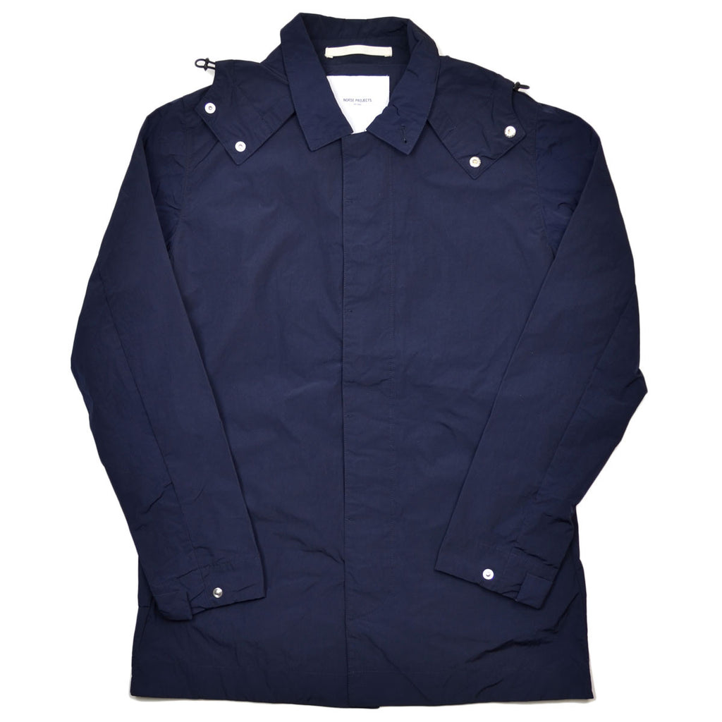Norse Projects - Thor Mini Light Rain Coat - Dark Navy