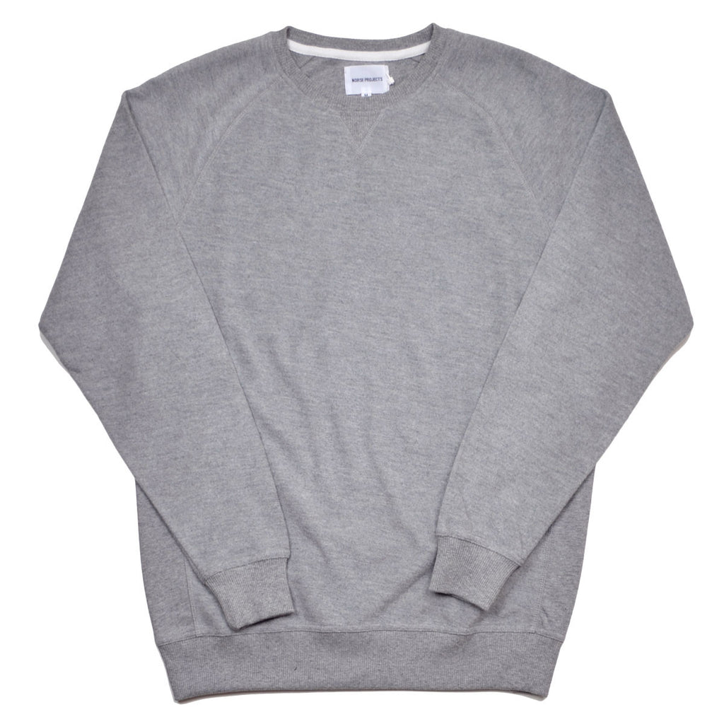 Norse Projects - Tristan Reversed Sweatshirt - Light Grey Melange