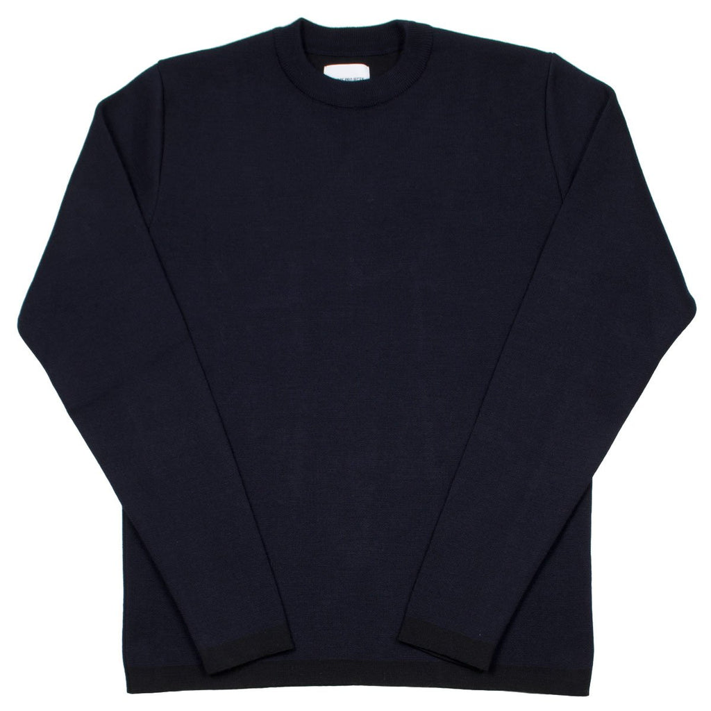 Norse Projects - Verner Double Faced Merino Sweater - Dark Navy