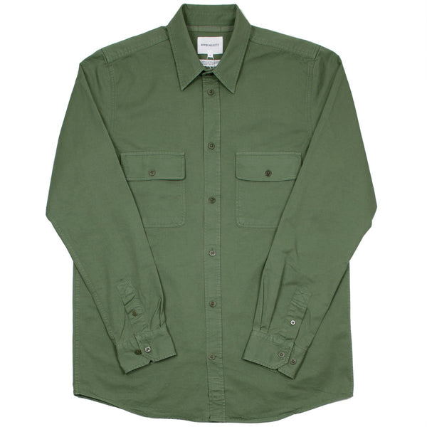 Norse Projects - Villad Light Twill Shirt - Dried Olive