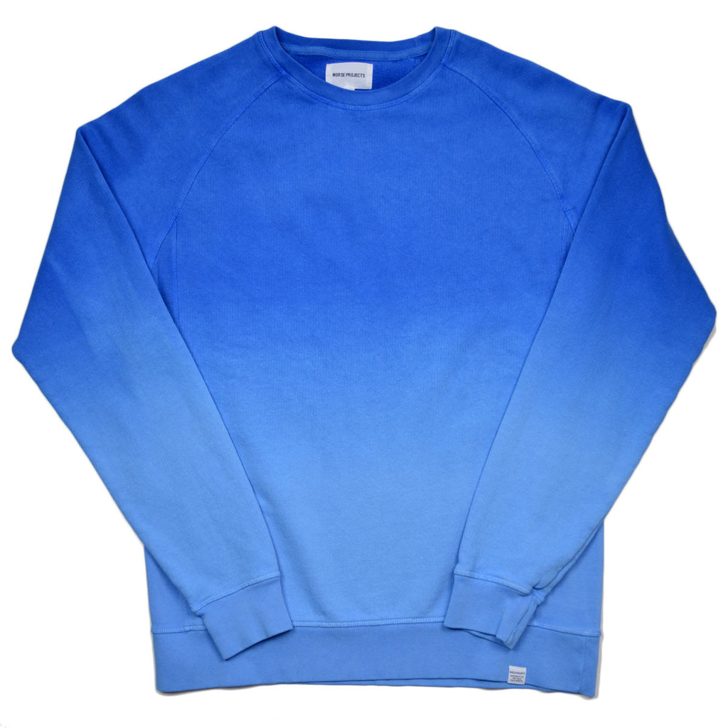 Norse Projects - Vorm Brushed Indigo Sweatshirt - California Blue