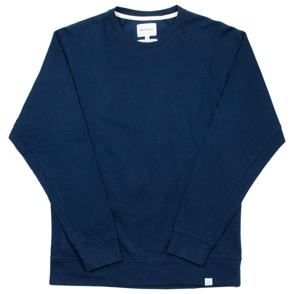 Norse Projects - Vorm Mercerised Sweatshirt - Navy