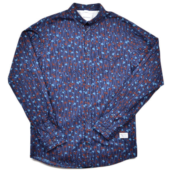 Norse Projects – Anton Shirt Branch Camo – Dark Indigo