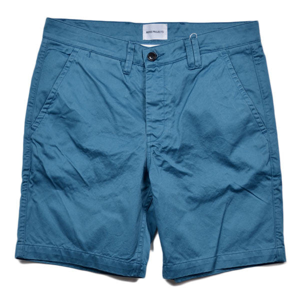 Norse Projects – Aros Short Heavy Chino – Iris Blue