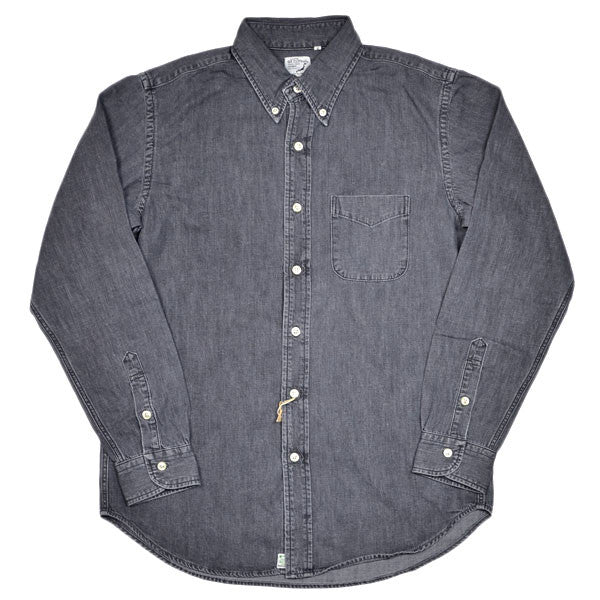 orSlow - Button-down Shirt - Black Grey Denim