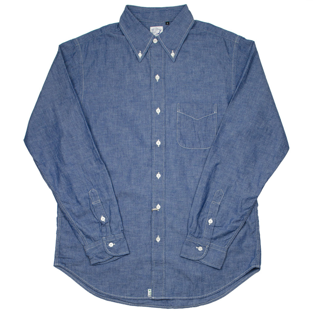orSlow - Button-down Shirt - Chambray