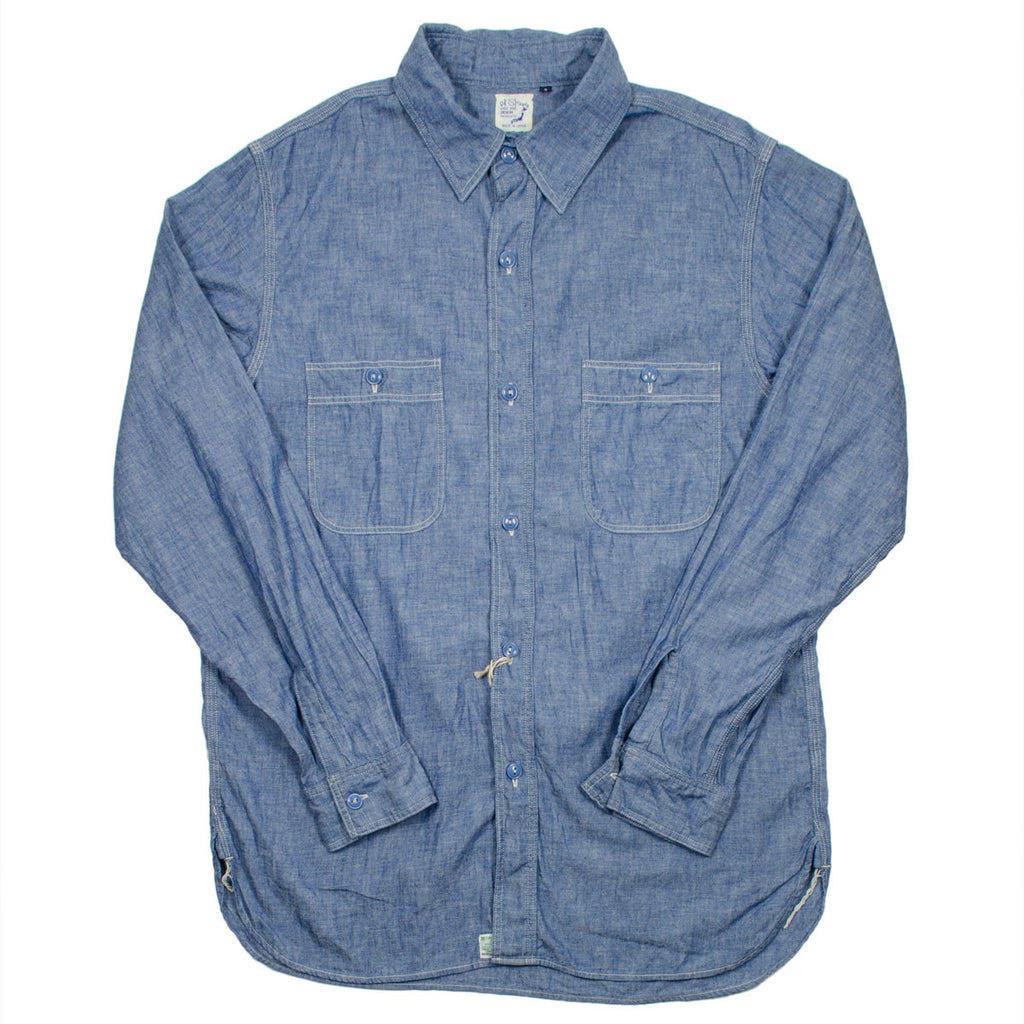 orSlow - Chambray Work Shirt - Blue