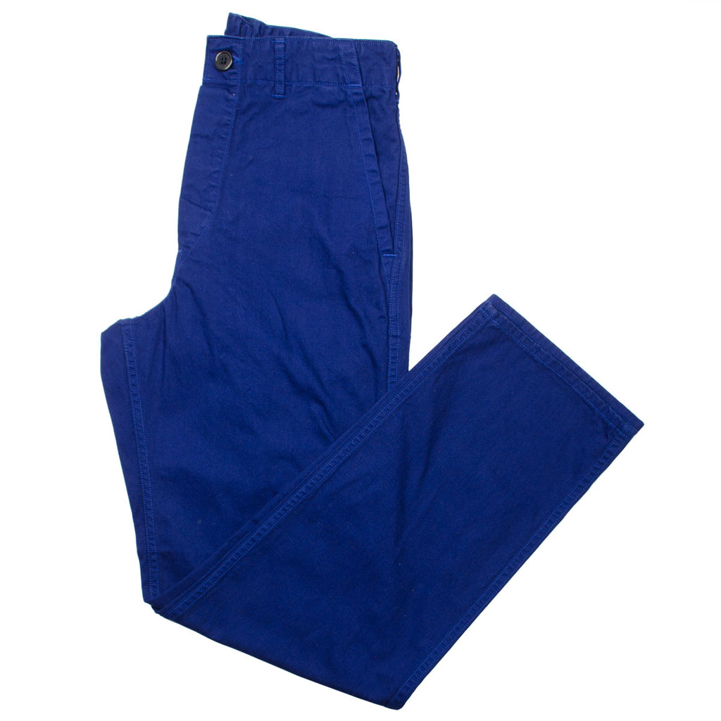 orSlow - French Work Pants - Blue Herringbone Twill