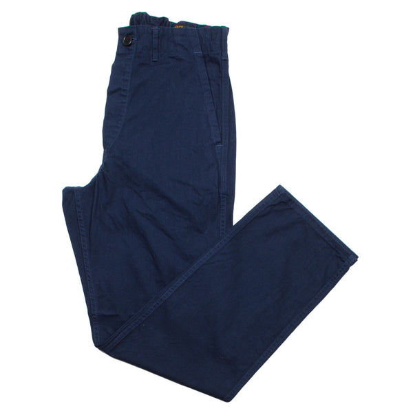 orSlow - French Work Pants - Navy Herringbone Twill