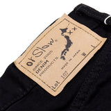 orSlow - Ivy Fit Denim 107 (Without Selvedge) - Black Denim