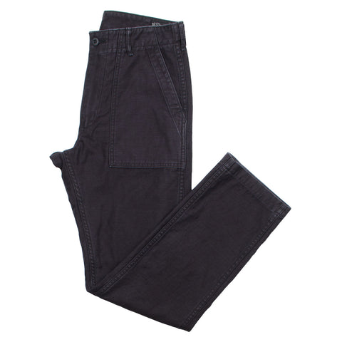 orSlow - Slim Fit Fatigue Pants - Black Stone Washed