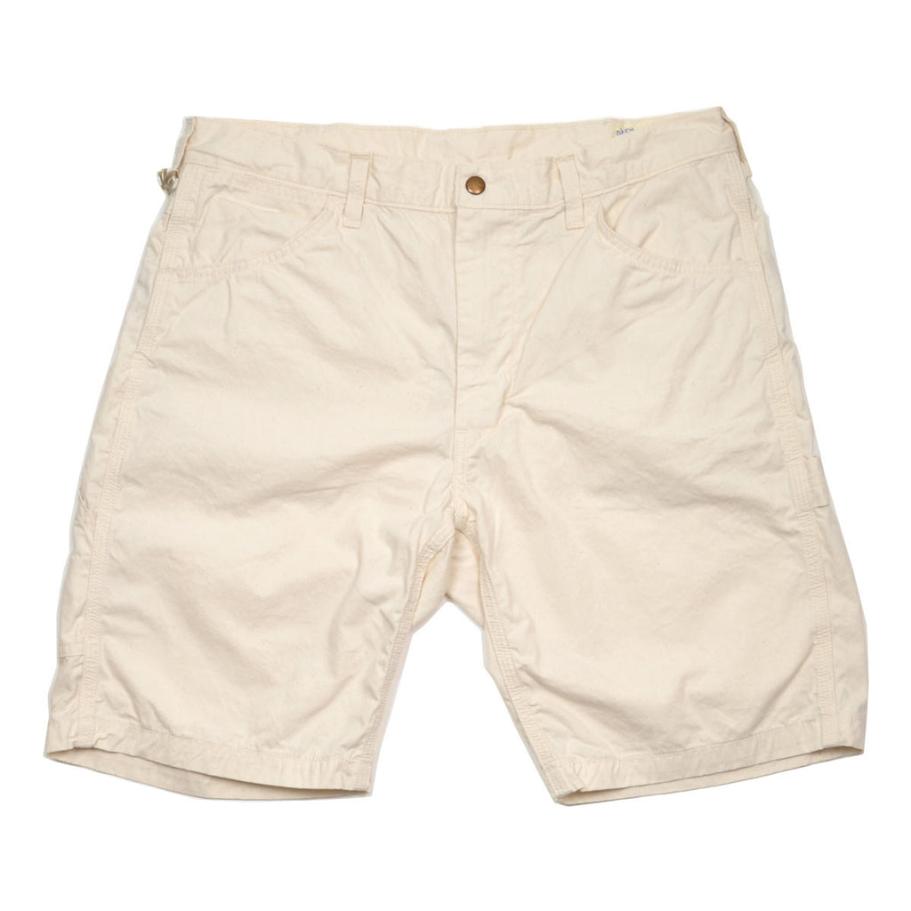 orSlow - Slim Fit Painter Shorts - Ecru