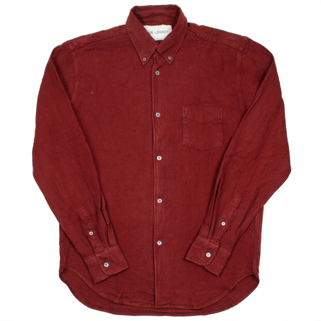 Our Legacy - 1950's Shirt - Burgundy H.A. Oxford