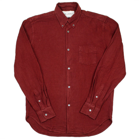 Our Legacy SPLASH - 1950's Shirt - Burgundy H.A. Oxford