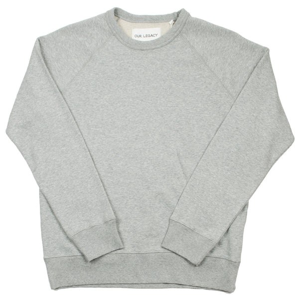 Our Legacy - 50's Great Sweat - Grey Melange Sweat