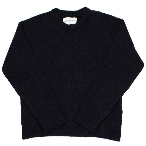 Our Legacy - Base Roundneck Sweater - Black Needled