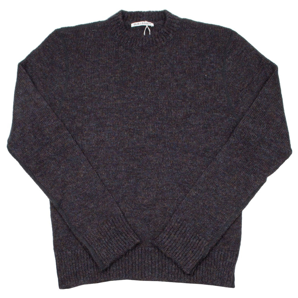 Our Legacy - Base Roundneck Sweater - Tweed Black