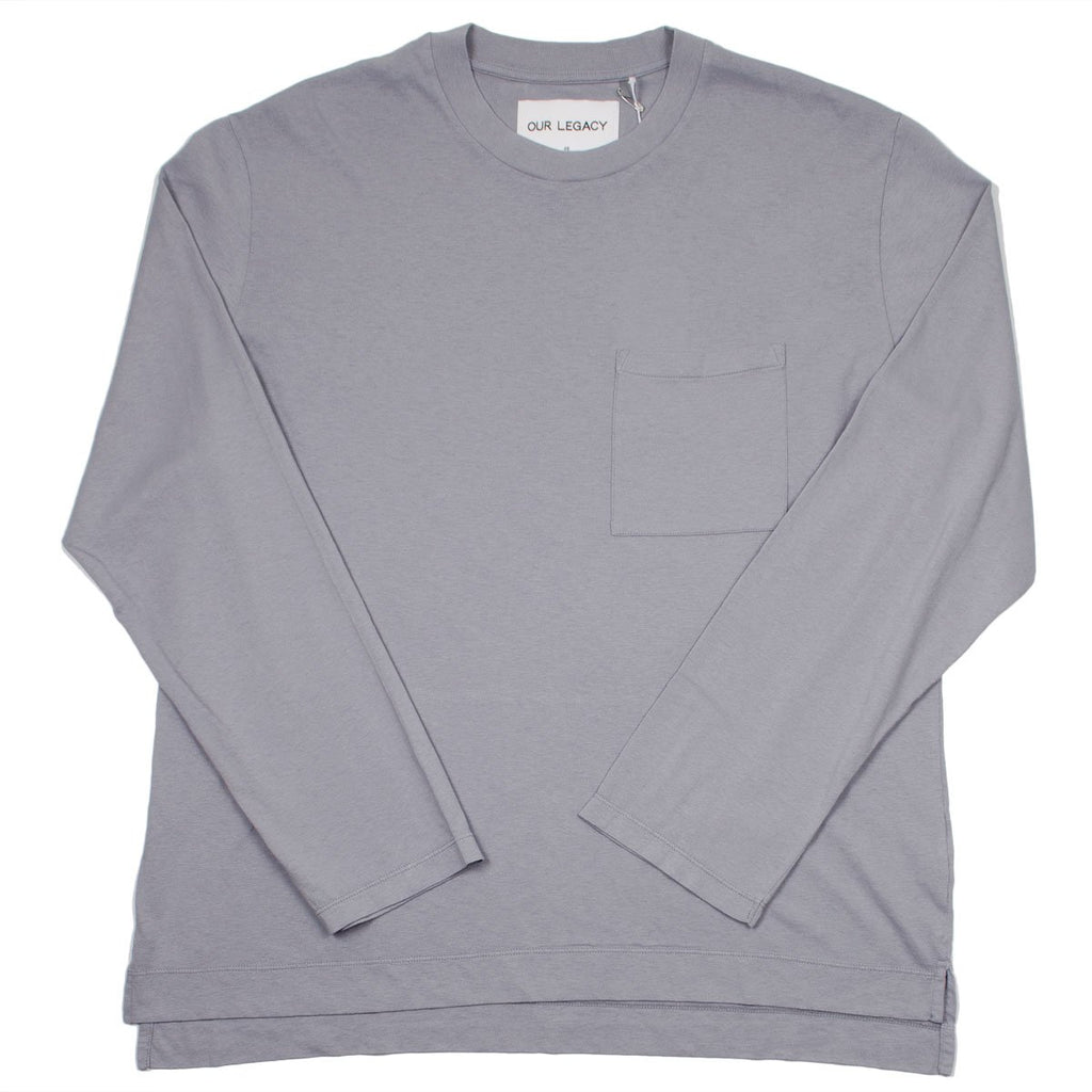 Our Legacy - Box Longsleeve T-shirt - Sky Grey Army Jersey