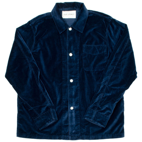 Our Legacy SPLASH - Box Shirt - Navy Velvet