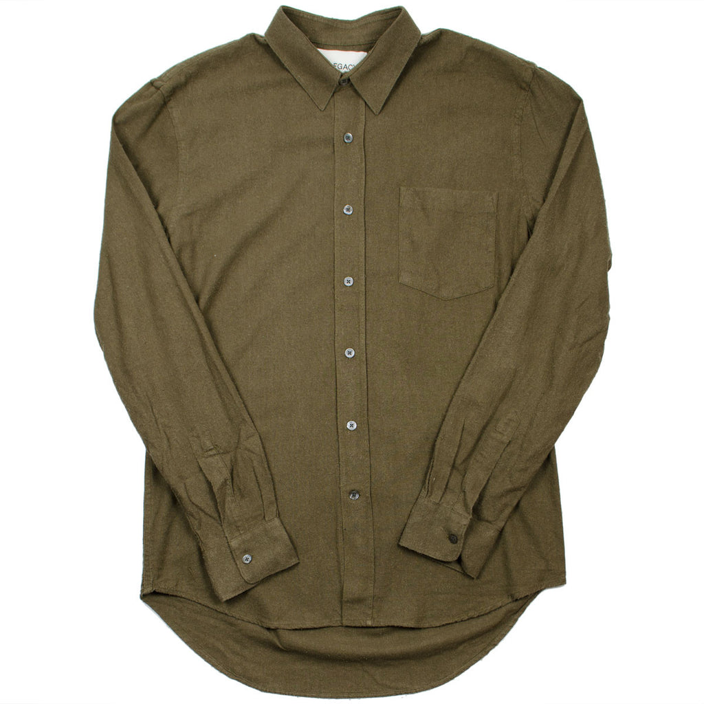Our Legacy - Classic Shirt - Dark Olive Silk Noil