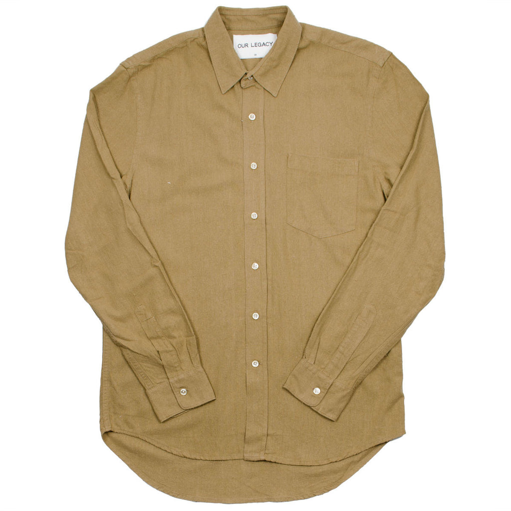 Our Legacy SPLASH - Classic Shirt - Tan Silk Noil