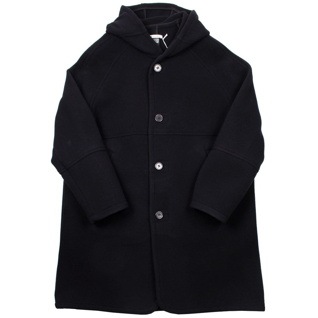 Our Legacy - Felt Duffle Coat - Black Cocoon Wool