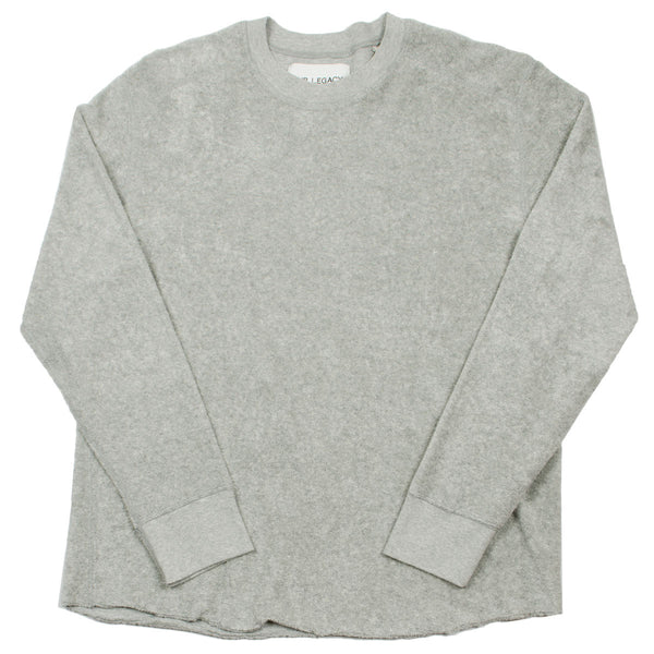 Our Legacy - Footbal Longsleeve Sweatshirt - Grey Melange Light Terry