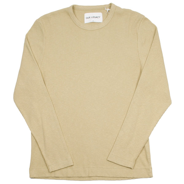Our Legacy SPLASH - Longsleeve T-shirt - Beige Rib