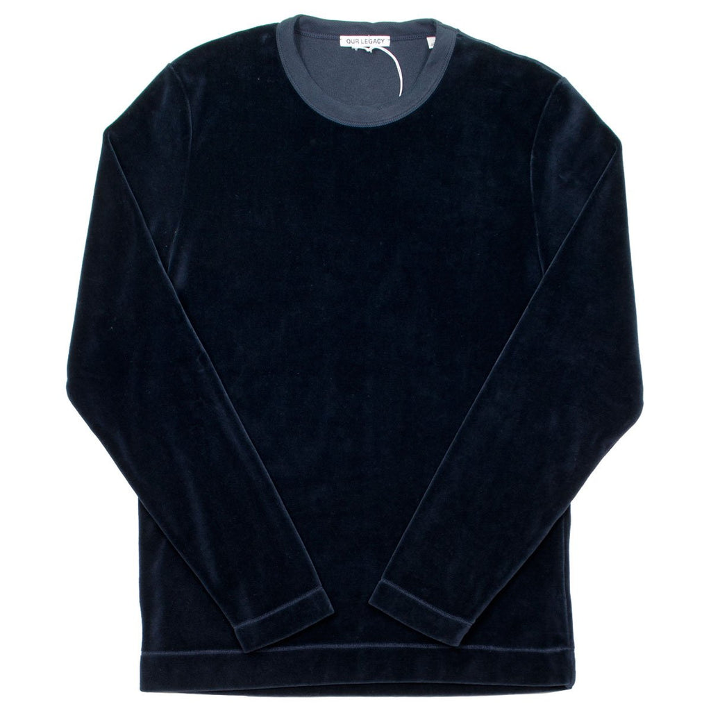 Our Legacy - Longsleeve T-shirt - Navy Velour