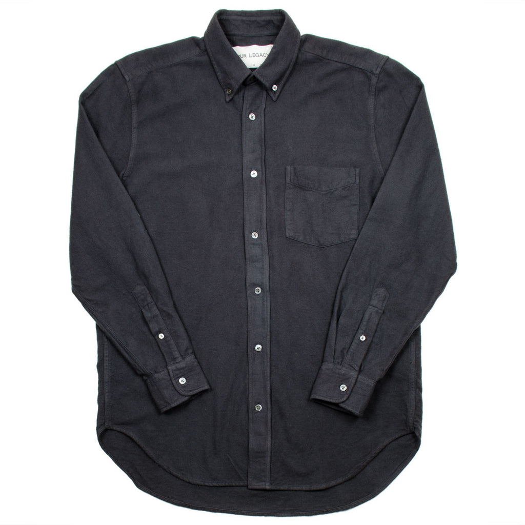 Our Legacy - Original BD Shirt - Smog Ultimate Flannel (Black)