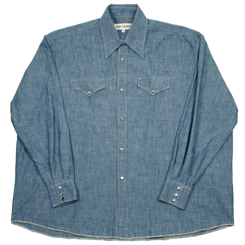 Our Legacy SPLASH - Ranch Shirt - Blue Chambray