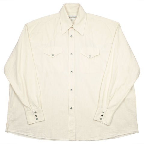 Our Legacy SPLASH - Ranch Shirt - White Chambray