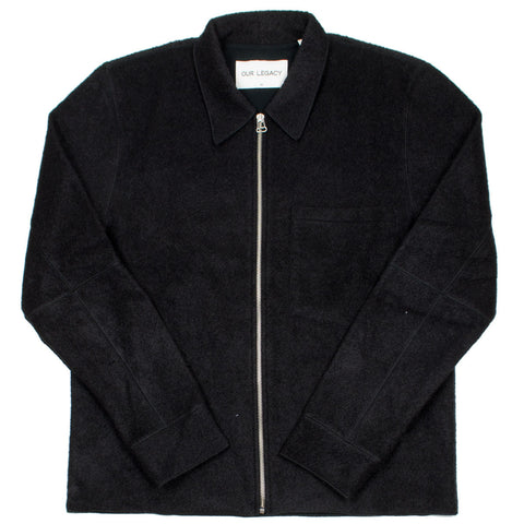 Our Legacy SPLASH - Raw Edge Blouson - Black Curl
