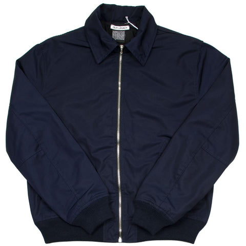 Our Legacy - Tech Half Harrington Jacket - Navy Dense Nylon