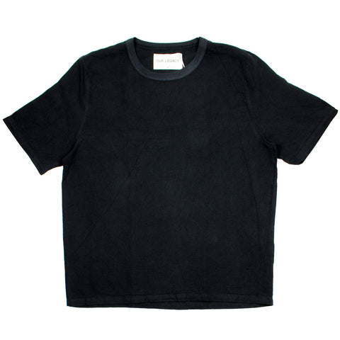 Our Legacy - Weaved T-shirt - Washed Black Linen