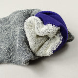 RoToTo - Doubleface Silk / Cotton Socks - Purple / Gray