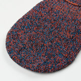 RoToTo - Low Gauge Linen Foot Cover Invisible Socks - Blue / Orange