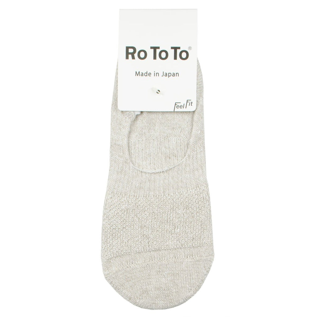 RoToTo - Low Gauge Linen Foot Cover Invisible Socks - Medium Beige