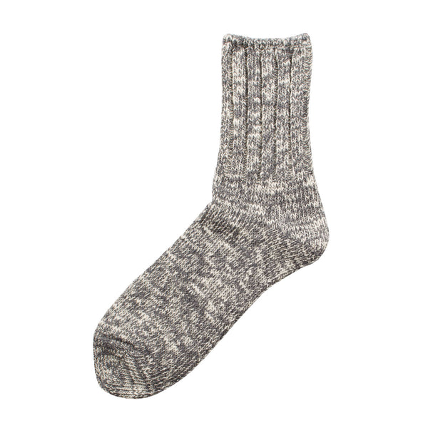 RoToTo - Low Gauge Slub Socks - Medium Gray